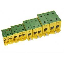 KL 4x16/1K/V klemm, 1,5-16mm² Al/Cu, kolla-roheline