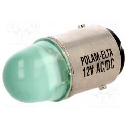 BA15d LED led bulb green 24VAC/DC,
