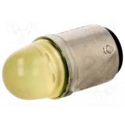 BA15d LED pirn 24VAC/DC, kollane