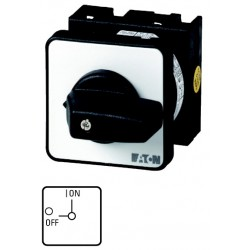 T0-1-102/E On-Off switch, 2 pole, 20 A,