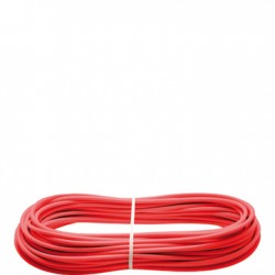 VF F05-010 Steel rope, red plastic coated, 10m roll