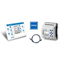 EASY-BOX-E4-DC1 stardipakett (EASY-E4-DC-12TC1 + kaabel + easySoft 7), 8 sisendit, 4 transistorväljundit