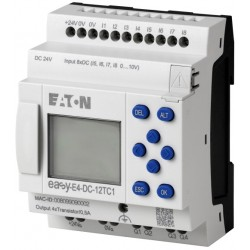 EASY-E4-DC-12TC1 control relay easyE4, display, 24VDC, 8 inputs, 4 transistor outputs