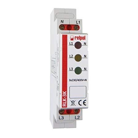 RLK-3K Module Voltage Indicator 230-400VAC Mounting DIN IP20 RELPOL