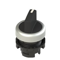 E2 1SE12AVA19AB selector switch, 2 positions, black