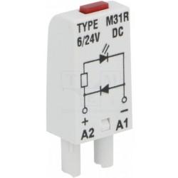 M31R diood, punane, 6-24DC