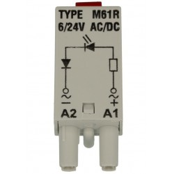 M61R diood, punane, 6-24AC/DC