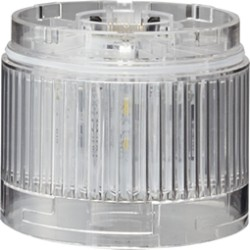 LED signal tower, Ø60mm, 24DC, LED unit, white, IP65
