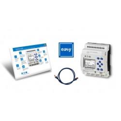 EASY-BOX-E4-AC1 stardipakett (EASY-E4-AC-12RC1 + kaabel + easySoft 7), 100-240AC/DC, 8 sisendit, 4 releeväljundit