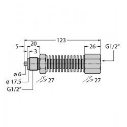 PCS-G1/2A rõhuanduri pikendus