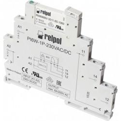 PIR6W-1P-230VAC/DC vaherelee, 1C/O, 6A