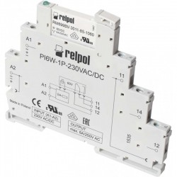 PIR6W-1P-230VAC/DC interface relay, 1C/O, 6A