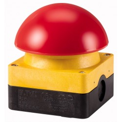 FAK-R/V/KC11/IY palm switch, 1NO+1NC, emergency switching off, surface mounting