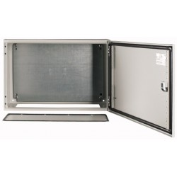 CS-64/250 metallkilp, K*L*S 600*400*250mm, pinnapealne, lehtteras, helehall, 2 lukku, IP66, montaažiplaadiga