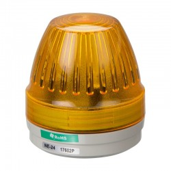 NE-24-R signal light, 24DC, Ø57mm, amber, continuous, IP65