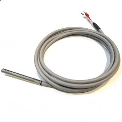 PT100, -50...+200C, 5x200mm, B-class, 3-wires, 2m silicone