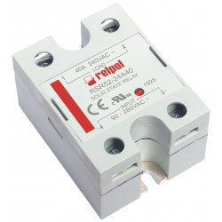 RSR52-24A40 solid state relay, 1-phase, input 90-280AC, output 48-280AC, 40A
