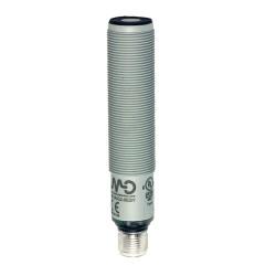 UK1A/E2-0EUL ultraheliandur, 15-30DC, M18 plastikkorpus, 50-400mm, 4-20mA, M12 pistik, IP67