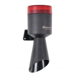 SNT horn + red signal light, 40-260V AC/DC, max 113dB, 16 tones, IP65