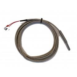 PT100, 0...+400C, 5x30mm, B-class, 3-wires, 3m glass fiber