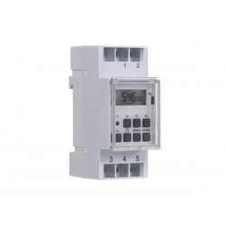 EDIN305N digitaalne taimer din-liistule, 230AC, 1 x relee (16A), nädala programm